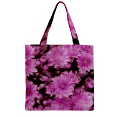 Phenomenal Blossoms Pink Zipper Grocery Tote Bags
