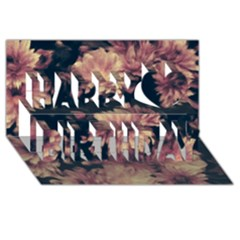 Phenomenal Blossoms Soft Happy Birthday 3D Greeting Card (8x4)