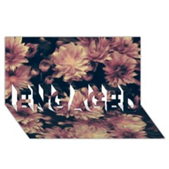 Phenomenal Blossoms Soft ENGAGED 3D Greeting Card (8x4)