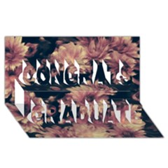 Phenomenal Blossoms Soft Congrats Graduate 3d Greeting Card (8x4)