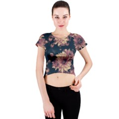 Phenomenal Blossoms Soft Crew Neck Crop Top