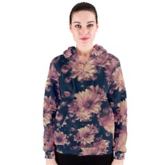 Phenomenal Blossoms Soft Women s Zipper Hoodies