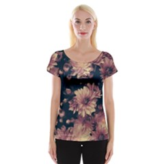 Phenomenal Blossoms Soft Women s Cap Sleeve Top