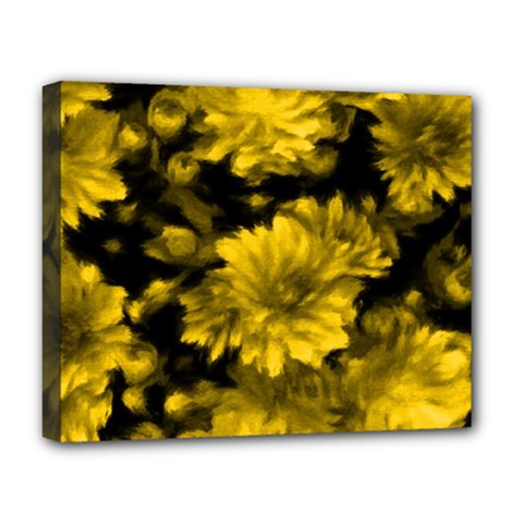 Phenomenal Blossoms Yellow Deluxe Canvas 20  x 16