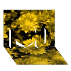 Phenomenal Blossoms Yellow I Love You 3D Greeting Card (7x5)
