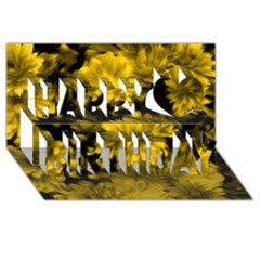Phenomenal Blossoms Yellow Happy Birthday 3d Greeting Card (8x4)