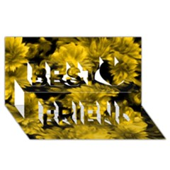 Phenomenal Blossoms Yellow Best Friends 3D Greeting Card (8x4)
