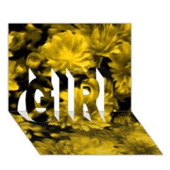 Phenomenal Blossoms Yellow Girl 3d Greeting Card (7x5)