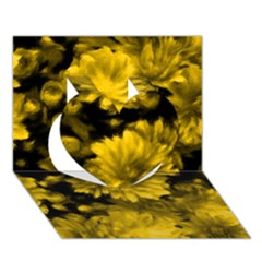 Phenomenal Blossoms Yellow Heart 3D Greeting Card (7x5)