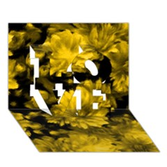 Phenomenal Blossoms Yellow Love 3d Greeting Card (7x5)