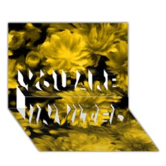 Phenomenal Blossoms Yellow YOU ARE INVITED 3D Greeting Card (7x5)