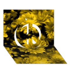 Phenomenal Blossoms Yellow Peace Sign 3D Greeting Card (7x5)