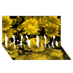 Phenomenal Blossoms Yellow BEST BRO 3D Greeting Card (8x4)