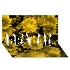 Phenomenal Blossoms Yellow Best Sis 3d Greeting Card (8x4)