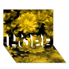 Phenomenal Blossoms Yellow HOPE 3D Greeting Card (7x5)