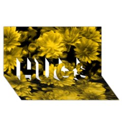 Phenomenal Blossoms Yellow Hugs 3d Greeting Card (8x4)