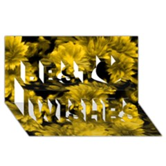 Phenomenal Blossoms Yellow Best Wish 3d Greeting Card (8x4)