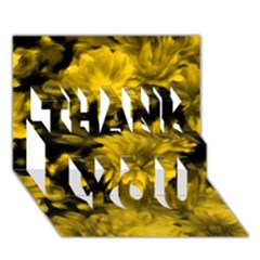 Phenomenal Blossoms Yellow Thank You 3d Greeting Card (7x5)