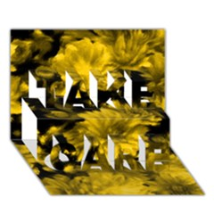 Phenomenal Blossoms Yellow TAKE CARE 3D Greeting Card (7x5)