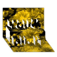 Phenomenal Blossoms Yellow You Did It 3D Greeting Card (7x5)