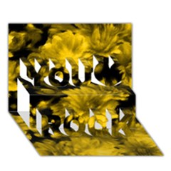 Phenomenal Blossoms Yellow You Rock 3d Greeting Card (7x5)