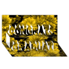 Phenomenal Blossoms Yellow Congrats Graduate 3D Greeting Card (8x4)
