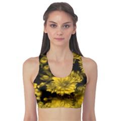 Phenomenal Blossoms Yellow Sports Bra