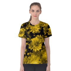 Phenomenal Blossoms Yellow Women s Cotton Tees