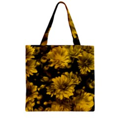 Phenomenal Blossoms Yellow Zipper Grocery Tote Bags
