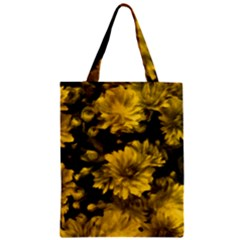 Phenomenal Blossoms Yellow Zipper Classic Tote Bags