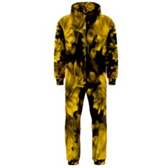 Phenomenal Blossoms Yellow Hooded Jumpsuit (Men)