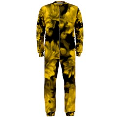 Phenomenal Blossoms Yellow OnePiece Jumpsuit (Men)