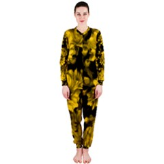 Phenomenal Blossoms Yellow OnePiece Jumpsuit (Ladies)