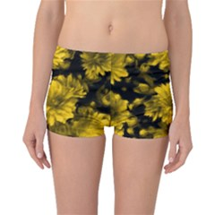 Phenomenal Blossoms Yellow Boyleg Bikini Bottoms