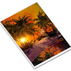 Wonderful Sunset In  A Fantasy World Large Memo Pads
