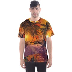 Wonderful Sunset In  A Fantasy World Men s Sport Mesh Tees