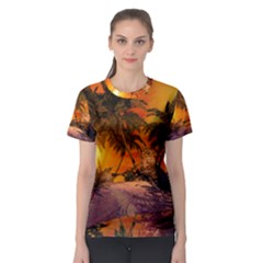 Wonderful Sunset In  A Fantasy World Women s Sport Mesh Tees