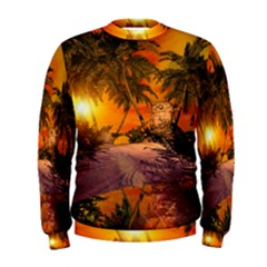 Wonderful Sunset In  A Fantasy World Men s Sweatshirts