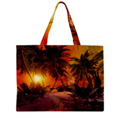 Wonderful Sunset In  A Fantasy World Zipper Tiny Tote Bags