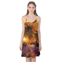 Wonderful Sunset In  A Fantasy World Camis Nightgown
