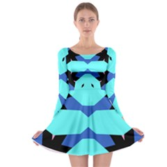 Benny Burt Long Sleeve Skater Dress