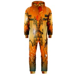 Funny, Cute Christmas Giraffe Hooded Jumpsuit (Men)