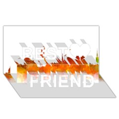 Barcelona 02 Best Friends 3d Greeting Card (8x4)