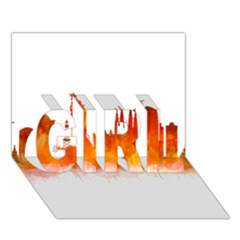 Barcelona 02 GIRL 3D Greeting Card (7x5)