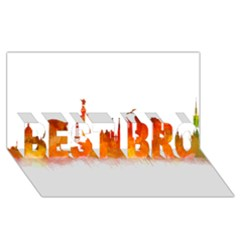Barcelona 02 BEST BRO 3D Greeting Card (8x4)