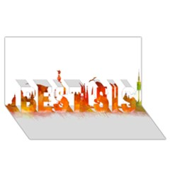 Barcelona 02 BEST SIS 3D Greeting Card (8x4)