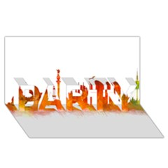 Barcelona 02 PARTY 3D Greeting Card (8x4)
