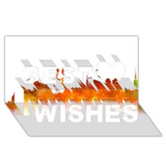 Barcelona 02 Best Wish 3D Greeting Card (8x4)
