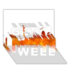 Barcelona 02 Get Well 3d Greeting Card (7x5)