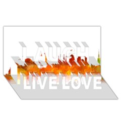 Barcelona 02 Laugh Live Love 3D Greeting Card (8x4)